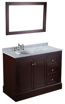 45'' Bosconi SB-255 Vanity Set - Contemporary - Bathroom Vanities And Sink Consoles - Bosconi Wholesale Bathroom Vanities Like the off-center sink - more room for makeup app