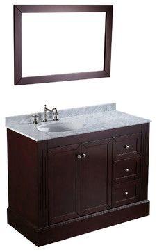 45'' Bosconi SB-255 Vanity Set - Contemporary - Bathroom Vanities And Sink Consoles - Bosconi Wholesale Bathroom Vanities Like the off-center sink - more room for makeup app