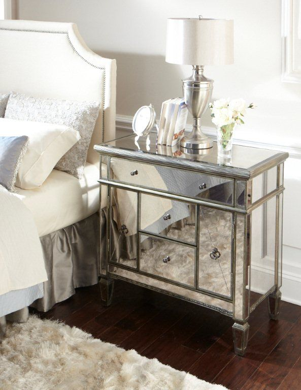 Amelie Mirrored Nightstand On Sale FoR The HoMe