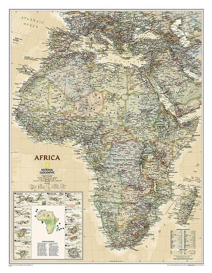 23 best map decorating images on pinterest world maps worldmap africa executive sleeved by national geographic maps gumiabroncs Images