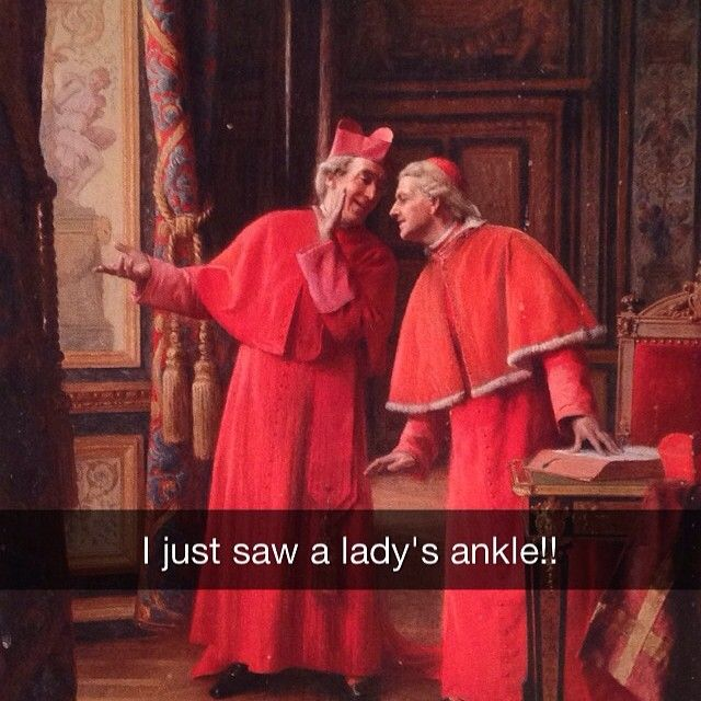 36 Snapchats That Pair Famous Artworks With Inappropriate Quotes