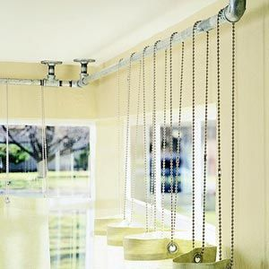 Industrial Chic Curtain Rods Plumb New Heights By Using Pipes As Curtain  Rods. The