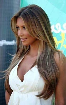 cabelos longos com luzes em morenas - Pesquisa Google