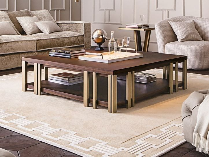 Low Square Coffee Table With Integrated Magazine Rack Mondrian Square Coffee Table Casamilano Coffee Tables Pinterest Coffee