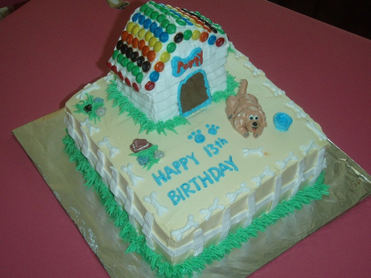 Images Of Cake For Niece : Niece s Birthday cake - dog and dog house - For a niece ...