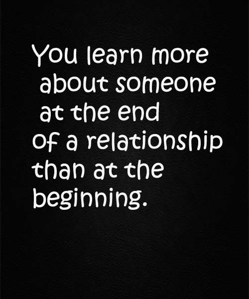 End Of A Relationship – Love Quote