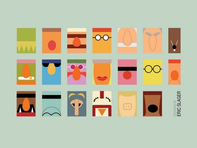 Minimalist muppets by eric slager the muppets poster for Minimalist art images