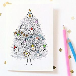 Printable Christmas Cards to Color in