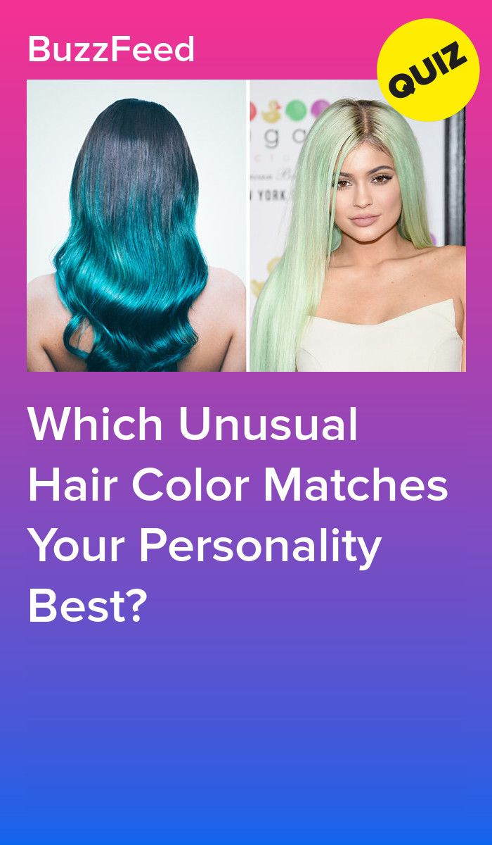 Which Unusual Hair Color Matches Your Personality Best Hair Quizzes Hair Color Quiz Hair Quiz