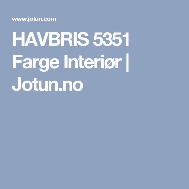 HAVBRIS 5351 Farge Interiør | Jotun.no