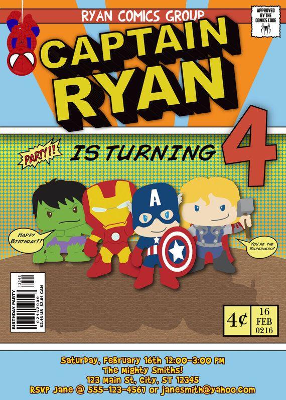 Avengers Comic Birthday Invitation By MellysHandmades On Etsy