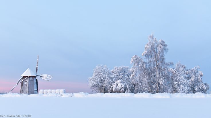 -20C morning in Otava Finland 2010 [1600×900] [OC]