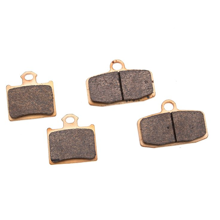 2012-2017 KTM 85SX (17 and 14 inch Wheels) Front and Rear Severe Duty Brake Pads, Grey metallic