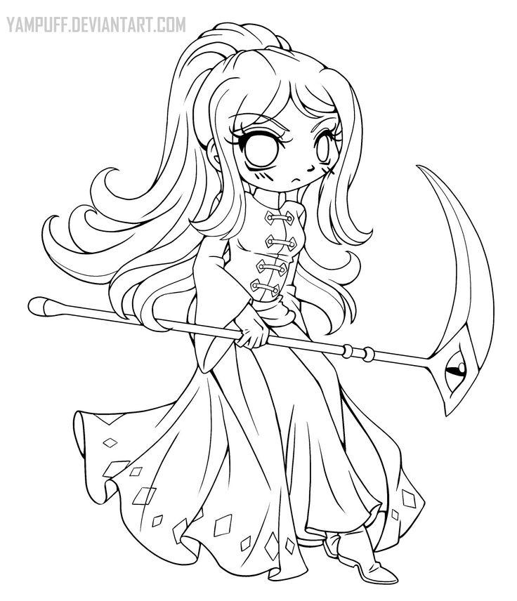 Captain Rainna Lineart By YamPuff