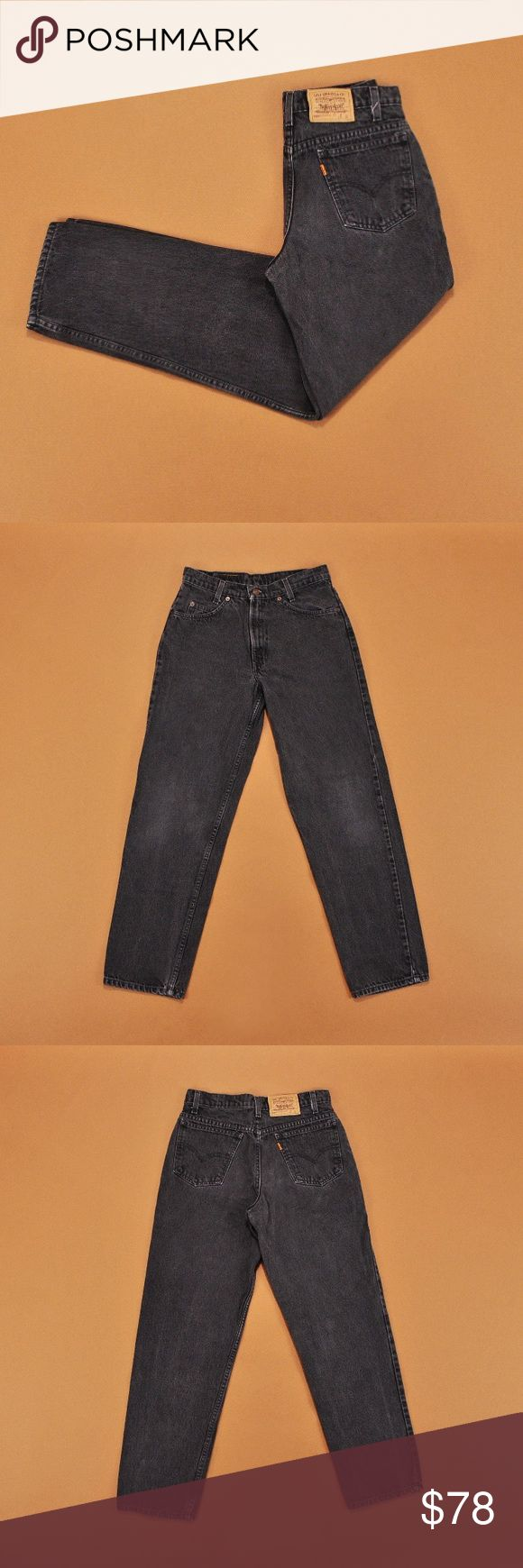Vintage High Waisted Black Levi's (XS-M) High quality vintage black high Waisted Levi jeans. 100% Genuine Levi's. The perfect pair of mom jeans. Since these are a vintage item some pair have had tags removed but all Jeans are sized to be true to fit! Levi's Jeans