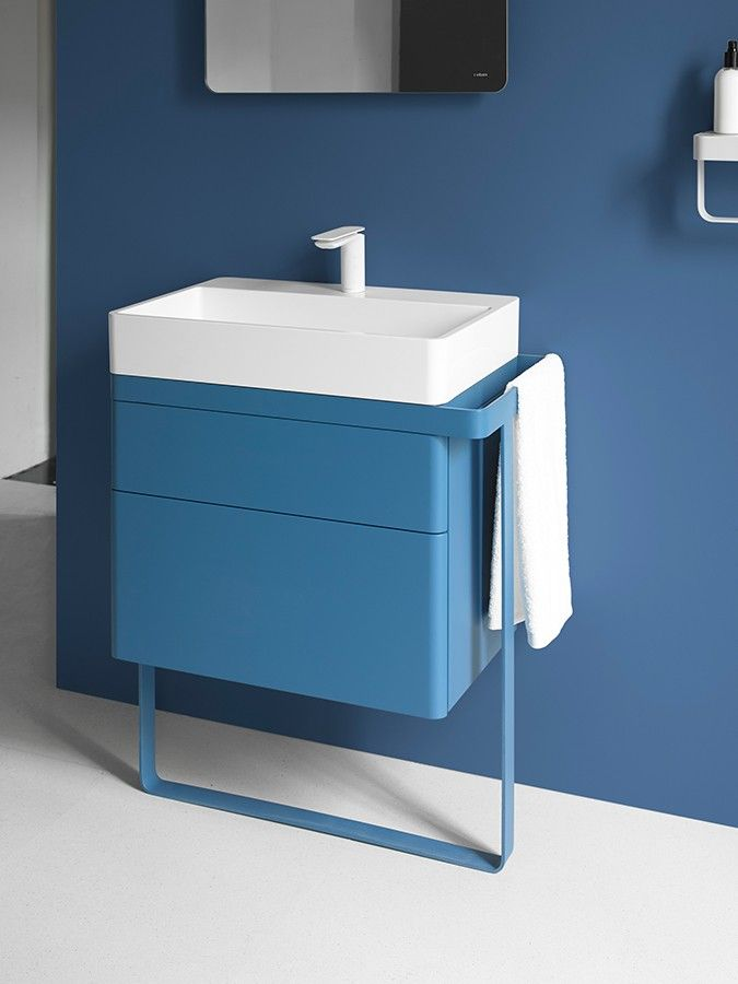 New Structure collection. #washbasin #bathroom #design #blue