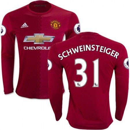 Manchester United 16-17 Bastian #Schweinsteiger 31 Hemmatröja Långärmad,304,73KR,shirtshopservice@gmail.com