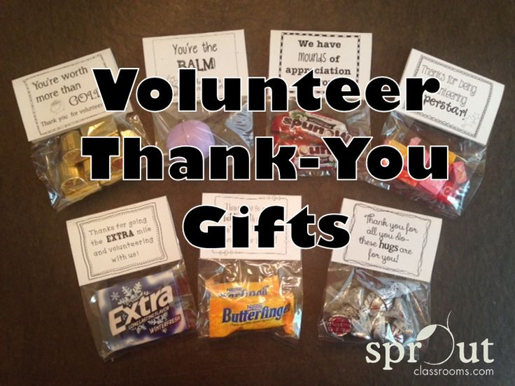 Make a basket of classroom volunteer thank-you gifts to pull from throughout the year! 30 tags and 30 bag toppers for gifts under 50 cents each!