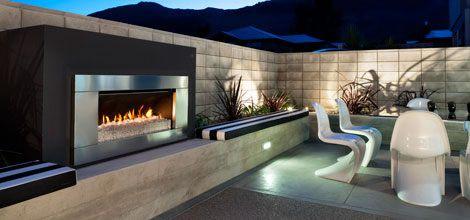 Escea outdoor gas fireplace