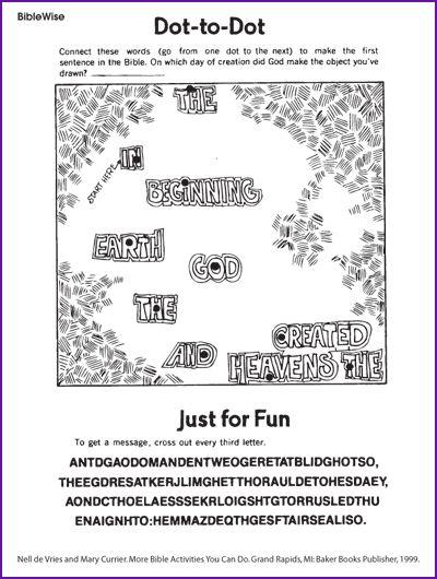dot to dot puzzle on creation kids korner biblewise space vbs pinterest dots fun and kid. Black Bedroom Furniture Sets. Home Design Ideas