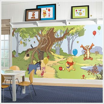 10 best images about winnie the pooh on pinterest wall for Classic winnie the pooh wall mural