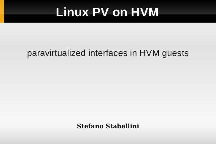 Linux Pv On Hvm Shmugli Shmugliviion Linux Cards