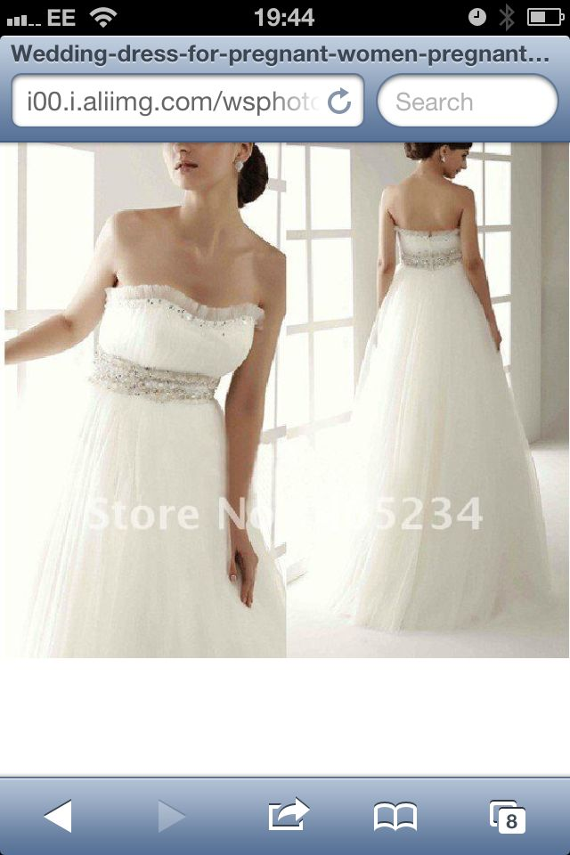 22 best vestidos de novia para embarazadas images on for Cheap wedding dresses for pregnant women