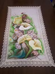 Resultado de imagen para camino de mesa pintado en tela