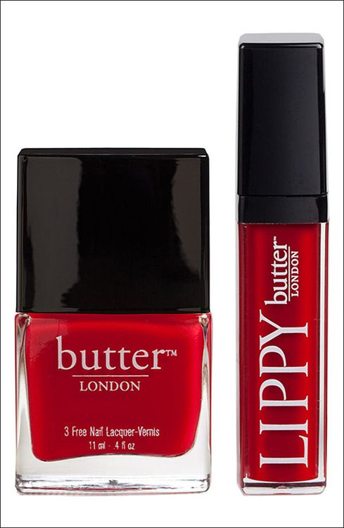 BUTTER London..love red nails and red lipstick!: Red Lipsticks, London Lov Red, London Butterlondonch, Beauty Makeup Nails, Beds Red, Red Nails, Butter London Lov, Long, Nails Lacquer