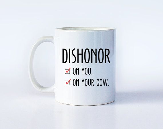 Disney Coffee Cup  Mulan Gift  Dishonor on Your by TheHoldFastery