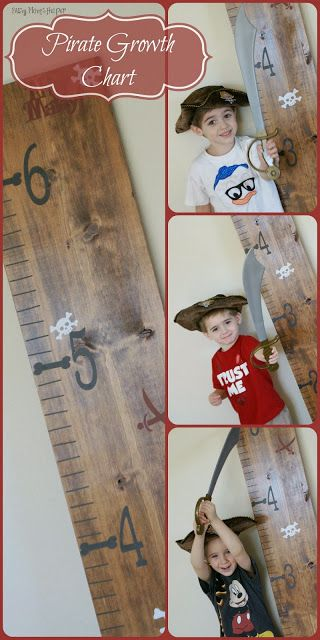 DIY Pirate Growth Chart - simple and budget friendly / www.BusyMomsHelper.com