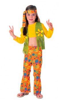 Disfraz de Hippie Top para niña