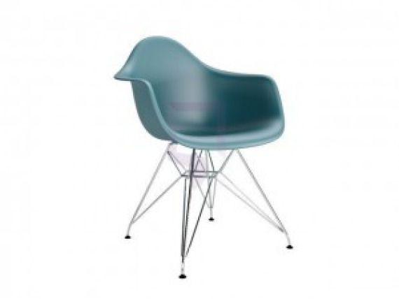 Krzesło - Quadre - Eiffel Arm Premium - morski