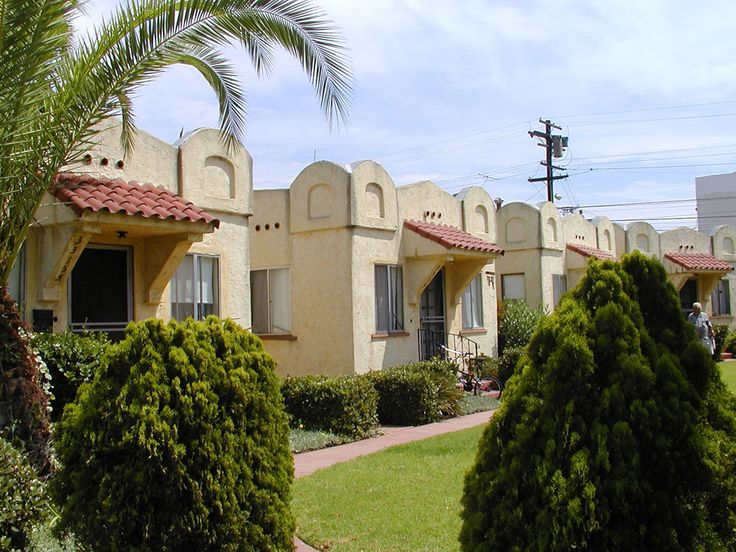 A Mission Revival Bungalow Court Was A California