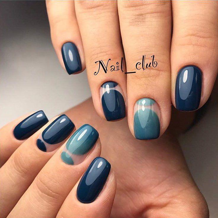 Autumn nails, Dark blue nails, Evening nails, Evening short nails, Fall nails ideas, Fall short nails, Fashion autumn nails, November nails