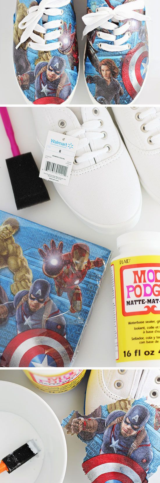 Avengers Superhero Shoes | Click Pic for 23 DIY Christmas Gifts for Teen Boys | Easy DIY Christmas Gifts for Guys