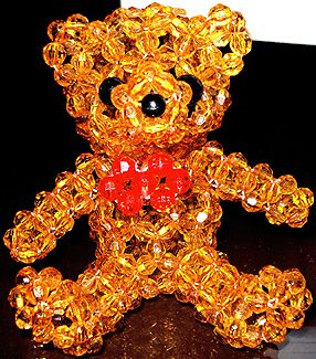 Beaded Teddy Bear Pattern by Allegra