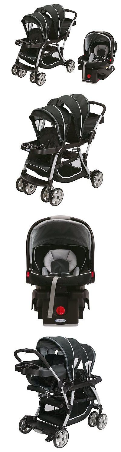 baby kid stuff: Graco Ready2grow Lx Duo Double Baby Stroller + Car Seat Travel System, Gotham BUY IT NOW ONLY: $319.99