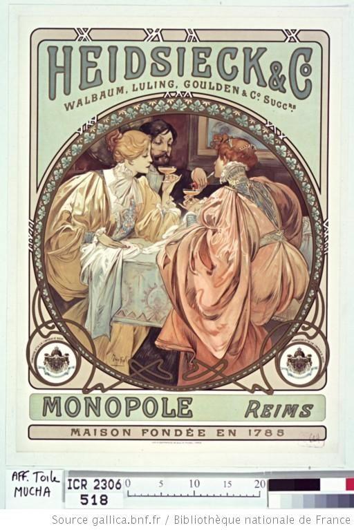 Heidsieck & Co... monopole Reims... : [affiche] / Mucha - 1