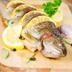 baked rainbow trout fish recipe