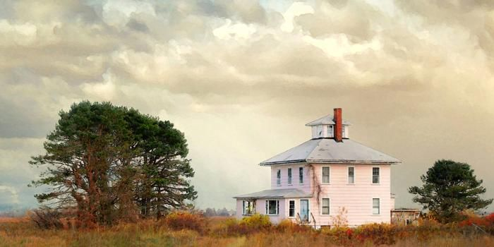 The Pink House, on the road out to Plum Island from Newbury, MA