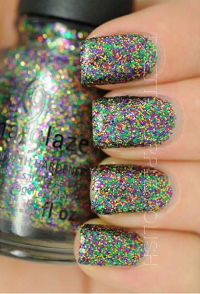Check out this list of some of China Glaze nail polish glitter combos that will surely make you drool. Its time to shine your way through the party.   See more about china glaze, glitter and china.