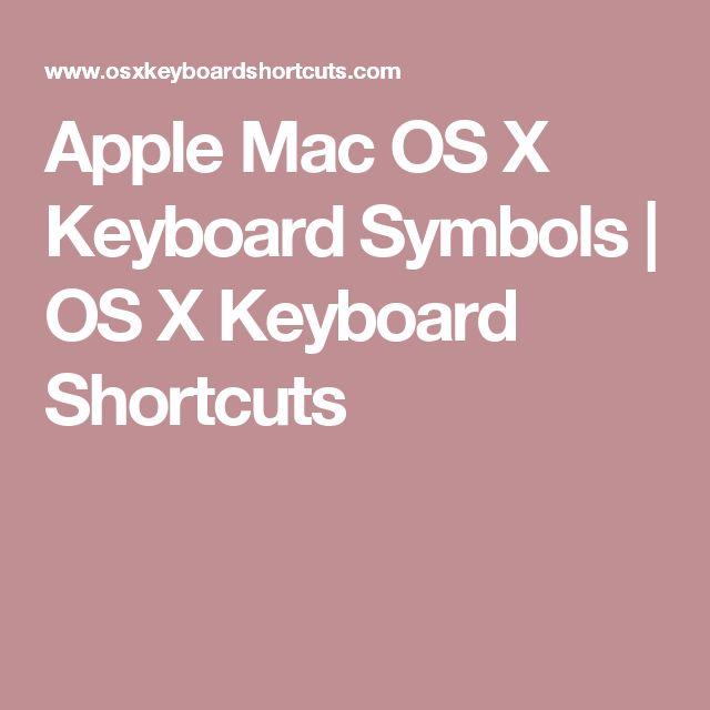 mac os x shortcuts pdf