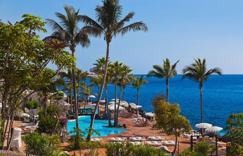 Hotel on the south coast, Tenerife |Where to go on holiday in October | http://www.weather2travel.com/holidays/where-to-go-on-holiday-in-october-for-the-best-hot-and-sunny-weather.php #weather #travel