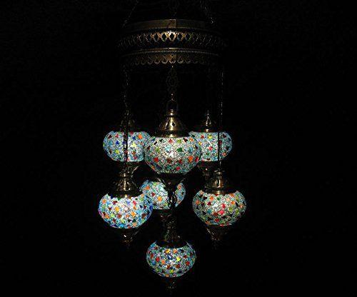 7 ball blue mosaic glass chandelier moroccan lantern hang... http://www.amazon.com/dp/B01EX1XKKI/ref=cm_sw_r_pi_dp_WIGixb1HCE9MM