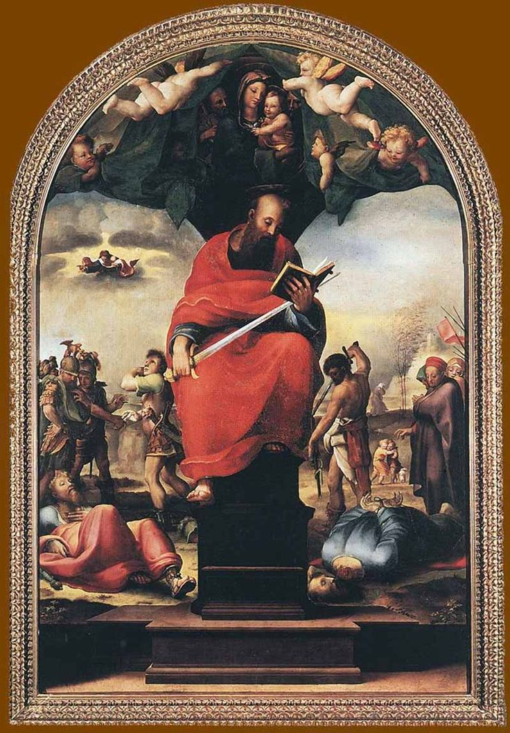 Доменико Беккафуми . «Св. Павел» 1515  Дерево. Сиена. Музей Собора.