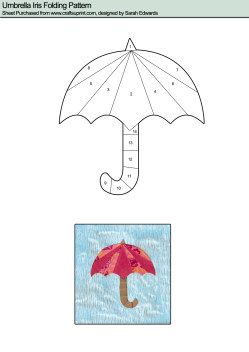 Iris Folding : Umbrella