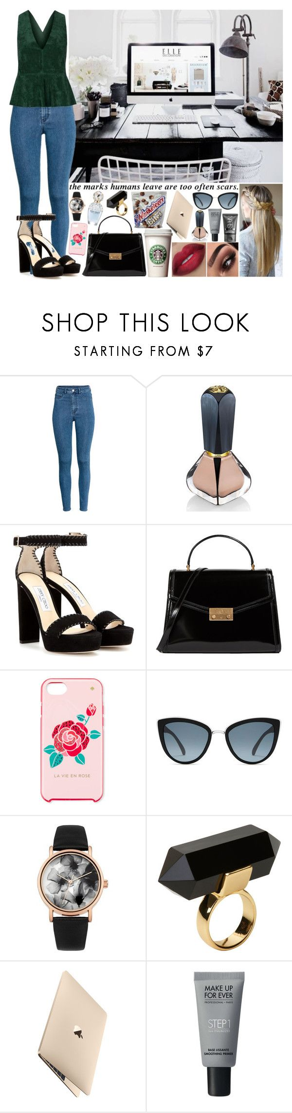 """Sin título #1379"" by gisella-jb-pintos ❤ liked on Polyvore featuring H&M, Oribe, Jimmy Choo, Tory Burch, Kate Spade, Topshop, Lipsy, GET LOST, Marc Jacobs and Monki"