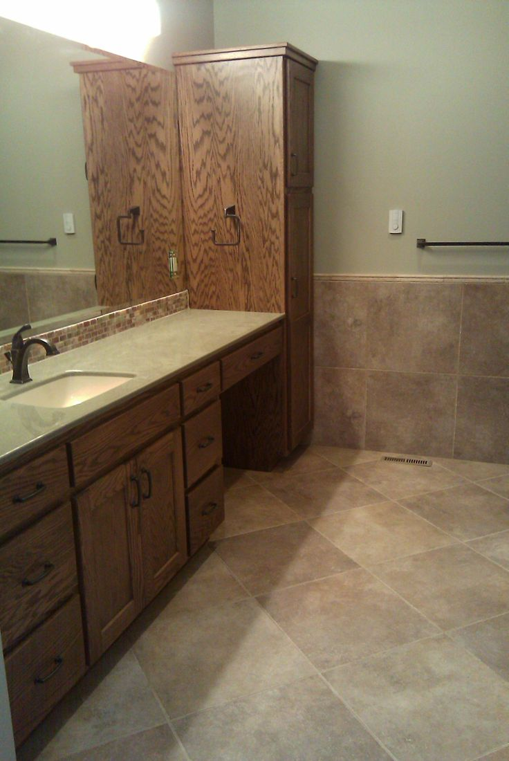 Marazzi Walnut Canyon Cream 20x20 Tile Installed On 45 Degree Angle By Jerry S Flooring Center