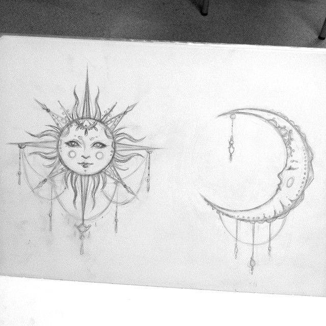 sun and moon drawings trippy - Google Search   Tattoo's ...